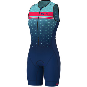 Alé Cycling Stars SL Triathlon Skinsuit Long Women, turkusowy/niebieski